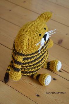 Tiger. Gratis Häkelanleitung (Knooking) von www.schautmal.de. Free crochet pattern!