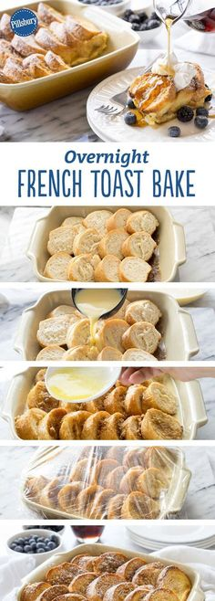 French Toast Bake: Make French toast the easy way, by prepping it the night before and baking it all at the same time!Overnight French Toast Bake: Make French toast the easy way, by prepping it the night before and baking it all at the same time! Breakfast Dishes, Breakfast Time, Best Breakfast, Breakfast Recipes, Breakfast Ideas, Breakfast Casserole, Breakfast Toast, Birthday Breakfast, Birthday Brunch