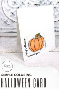 "These simple but super sweet handmade pumpkin cards are easy to make, come together super quick thanks to some handy tips and are perfect to send to anyone who loves Halloween. Trick or treat cards are a fun way to celebrate Halloween with anyone who might be to grown up to go door to door! Click through and learn some of my ""trade secrets""! Handy Tips, Helpful Hints, Pumpkin Uses, Pumpkin Cards, Alcohol Markers, Glue Dots, Free Paper, Halloween Cards, Diy Craft Projects"
