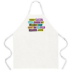 @Overstock - Bring some style to your meal preparation with this fun 'Normal Lives' apron by Attitude Aprons. The screen-printed apron fits most and is machine washable for your convenience.http://www.overstock.com/Home-Garden/Attitude-Aprons-Normal-Lives-Apron/6581466/product.html?CID=214117 $18.59