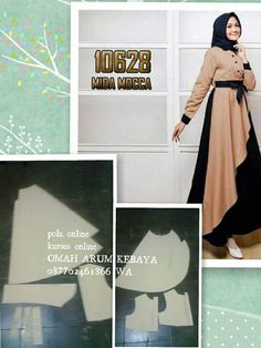 Baby Dress Patterns, Dress Making Patterns, Clothing Patterns, Sewing Patterns, Abaya Pattern, Hijab Style Tutorial, Long Dress Design, Hijab Style Dress, Modele Hijab
