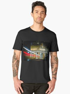 A car drives toward New York City's Grand Central Terminal at night, leaving a trail of red, white, and blue light. New Skyline, London Skyline, Men Fashion Photo, Men's Fashion, London Souvenirs, London Photos, Iphone Case Covers, Phone Cases, London England