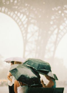 Raining in Paris - this was me, but the wind was blowing at 75mph and I didn't look so graceful. I still loved every moment of it though.