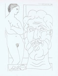PABLO PICASSO LITHOGRAPH NUDE VOLLARD SUITE 1956 CONSERVATION MOUNTED # 61