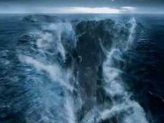 God through Moses Parts the Sea