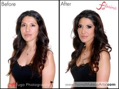Before and after makeup transformation by Florina the Makeup Artist  Smokey eyes & Flawless skin With a nude lip.