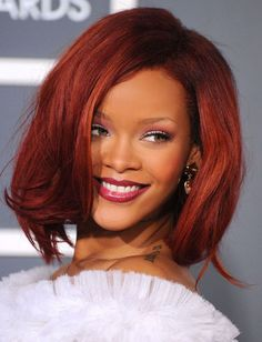 "THE 10 MOST INSPIRING SHORT HAIRCUTS: Rihanna's Choppy Lob  Why we love it: This ""lob"" (i.e. long bob) strikes the perfect balance between wild and tame. The flippy, uneven ends around the face add body and movement, while the clean, simple lines on the sides and back lend control to the look. Flaming red color optional."