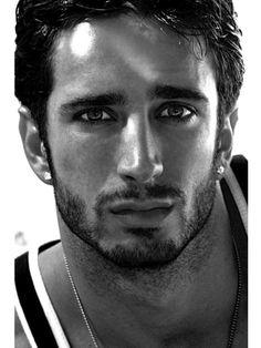 Handsome Arabic Man with Scruffy Beard.