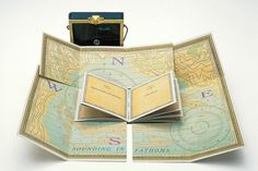 """Artist book by Julie Chen - """"You Are Here"""" ...ha, small world - I know Julie! She's friends with my aunt, so I saw her a lot over the summer...."""