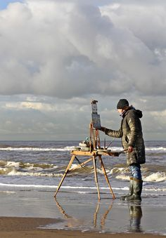 Rubber boots needed | Seascapes plein air