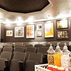 This movie room is actually inside the Oyster Box Hotel, South Africa; but would be just as fabulous in your home!!