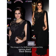 Black Beauty Weightless Georgette Aamna Sharif Designer Replica Saree