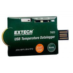 http://termometer.dk/termometer-r13808/termometre-og-datalogger-r13928/usb-temperaturdatalogger-pakke-med-10-53-THD5-r65912  USB temperaturdatalogger (pakke med 10)  Praktisk kreditkort-størrelse hus med USB 2.0 stik og NTC-termistor til én gang i datalogging nøjagtige temperaturmålinger Brugerprogrammerbare indstillinger: sprog, prøveindsamlingshastighed, start tid, alarmforsinkelse, høj/lav alarm, og sikkerhedsfunktion Statusindikering via røde og grønne lysdioder...