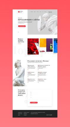 Redesign reklamnoe-agentstvo.pro/uslugi/sozdanie-sajtov on Behance