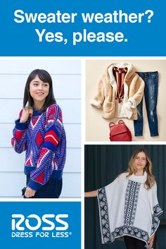 Warm up to great style for less at Ross. Find a Ross near you for the brands and styles you love at a great price. Dresses For Less, Casual Dresses For Women, Girl Outfits, Fashion Outfits, Womens Fashion, Ross Store, Black Maxi, Winter Wear, Sweater Weather