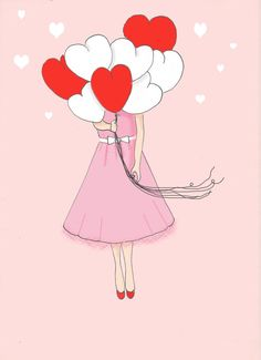 AMOR - Rosa - arte corazón arte