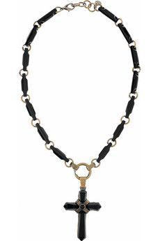 Emilio Pucci cross necklace