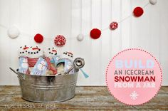Two Shades of Pink: Build an Ice Cream Snowman From A Jar