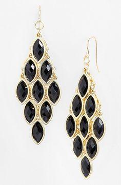 black gold earings