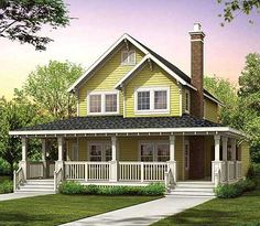 Eplans Farmhouse House Plan - Gorgeous Wraparound Veranda - 1479 Square Feet and 3 Bedrooms from Eplans - House Plan Code suite downstairs, kitchen in knook, kind of. Country Style House Plans, Farmhouse Style, Home Design, Small Country Homes, Country Living, Br House, House Porch, Farmhouse Floor Plans, Simple Farmhouse Plans