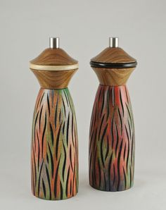 Turning pepper and salt mills has enabled me to express my artistic side and I try to make them very distinctive and quite different from the