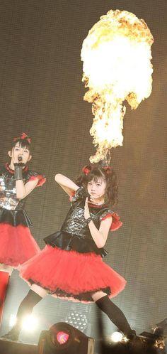 yui on fire