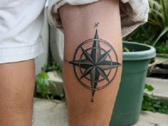 Perfectly Place Compass Tattoo Designs to Look Beautiful & Stylish ⋆ BrassLook Nautical Compass Tattoo, Nautical Star Tattoos, Compass Tattoo Design, Star Tattoo Designs, Tattoo Designs For Women, Rose Tattoos For Men, Trendy Tattoos, Tattoos For Guys, Tattoos For Women