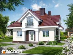 Dom w robiniach My Ideal Home, Design Case, Viera, Home Fashion, House Plans, Farmhouse, House Design, Mansions, House Styles