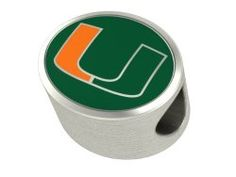 College Jewelry University of Miami Hurricanes Sterling Silver Enamel Bead Charm Fits Most European Style Charm Bracelets University Of Miami Hurricanes, European Fashion, European Style, Aleta, Silver Enamel, Fashion Bracelets, Pandora Charms, Jewelry Shop, Charmed