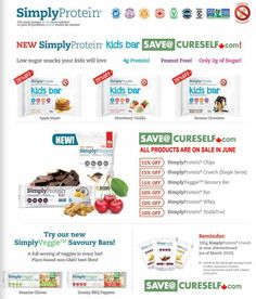 Save on Simply Protein bars!