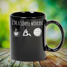 I'm a Simple Woman Coffee Pizza Basketball Great basketball t shirt/mug/bag gift for family, friends, basketball players, basketball lovers or any women, men, girls, boys you know who loves basketball. Perfect basketball t shirt, funny basketball tshirts, Funny basketball Shirt for Men and Women, basketball shirt for women, basketball shirt for men, basketball gifts for teen girl boy. - get yours by clicking the link in my profile bio.
