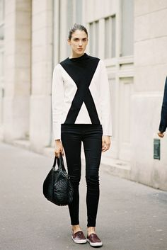 Cross sweater at Paris Fashion Week AW 2014 | Vanessa Jackman, August 2014