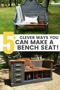 Creative ways to make an upcycled bench from repurposed furniture