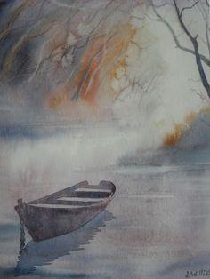Variation sur un thème - la barque - (24x32 cm)