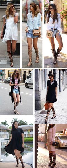 Adoro as sandalias gladiadoras com short,  saia e vestido... Muito estilosa nos lembra os egípcios com sua elegância.