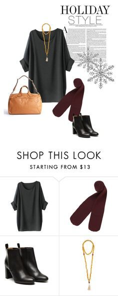 """""""Comfy Holidays"""" by youaresofashion ❤ liked on Polyvore featuring Monki, Stephane Kélian, Jewelry for a Cause, Ben Minkoff, holidaystyle and oversizeddress"""
