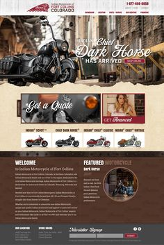 Indian Motorcycle of Fort Collins Website Design and Development.