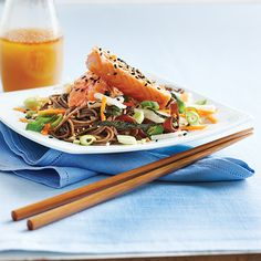 Recipe for tonight. Found 100% buckwheat noodles & substitute wheat free tamari to make it gluten free! Yummo