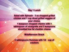 Day 1 Meal Plan 1200 Calories Lunch
