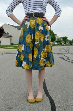 Florals  Stripes for Spring. ❤ Anthropologie skirt!