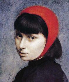 Pietro Annigoni (1910-1968) italian portrait and fresco painter. He became famous after the portrait of Queen Elisabeth II