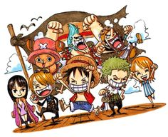 The Straw Hat crew  One Piece