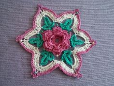 Motif snowflakes with a flower