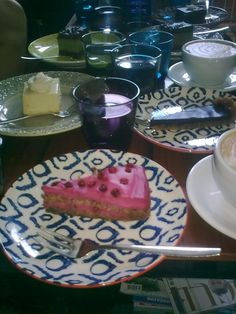 Raw cake at cafe Kokko