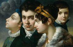 Merry-Joseph Blondel Familienporträt Oil on canvas 1813