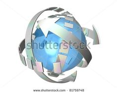 Cyclic Arrows Turning On Themselves, Representing Notions Such As Synchronization, Connection, Process, Movement, Cyclical Phenomenon, Renewal, Repetition, Rotation, As Well Time Which Is Going Stock Photo 81759748 : Shutterstock