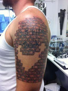 d29ba3aef5743 35 Best Bricks Tattoo For Guys images in 2017   Arm Tattoo, Tattoo ...