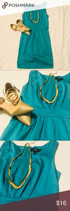 Teal Blue Sheath Dress (Perfect for Wedding Guest) This dress can be made business chic for a job interview or styled with some sparkle to wear to a Spring or Summer wedding. Two small snags and one small stain on the back as pictured in last few photos. Not very noticeable when worn. Mossimo Supply Co Dresses Mini
