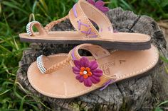 Summer/+spring+flats+leather+sandals+hand+finished+by+KiKiPlay,+£35.00