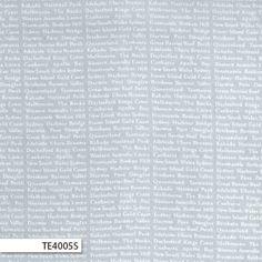 Ella Blue newsprint quilting fabric has Australian place names printed in white on a grey / silver background. Place Names, Blue Fabric, Silver, Prints, Fabrics, News, Tejidos, Cloths, Fabric